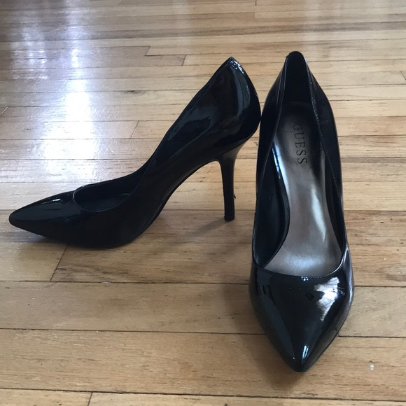 Guess Shoes | Patent Leather Pumps With Leopard Sole | Poshmark